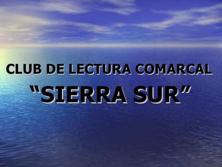 Presentación club de lectura comarcal