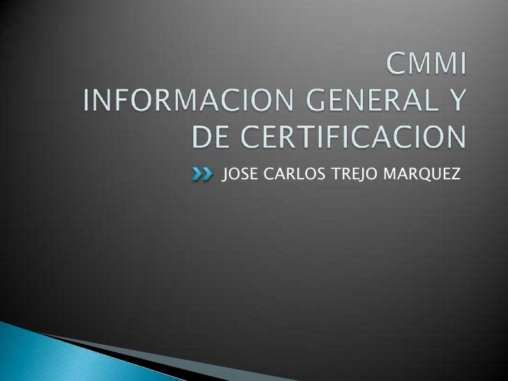 Presentación+cmmi+certification