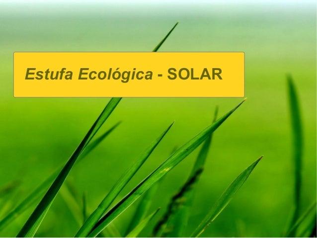 Presentación cocina solar