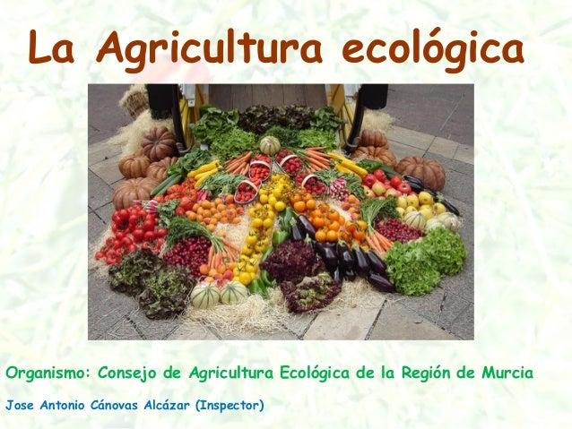 La Agricultura ecológica Organismo: Consejo de Agricultura Ecológica de la Región de Murcia Jose Antonio Cánovas Alcázar (...