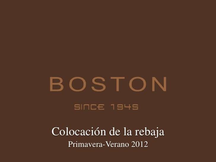 Presentación Colocación Rebajas PV 2012