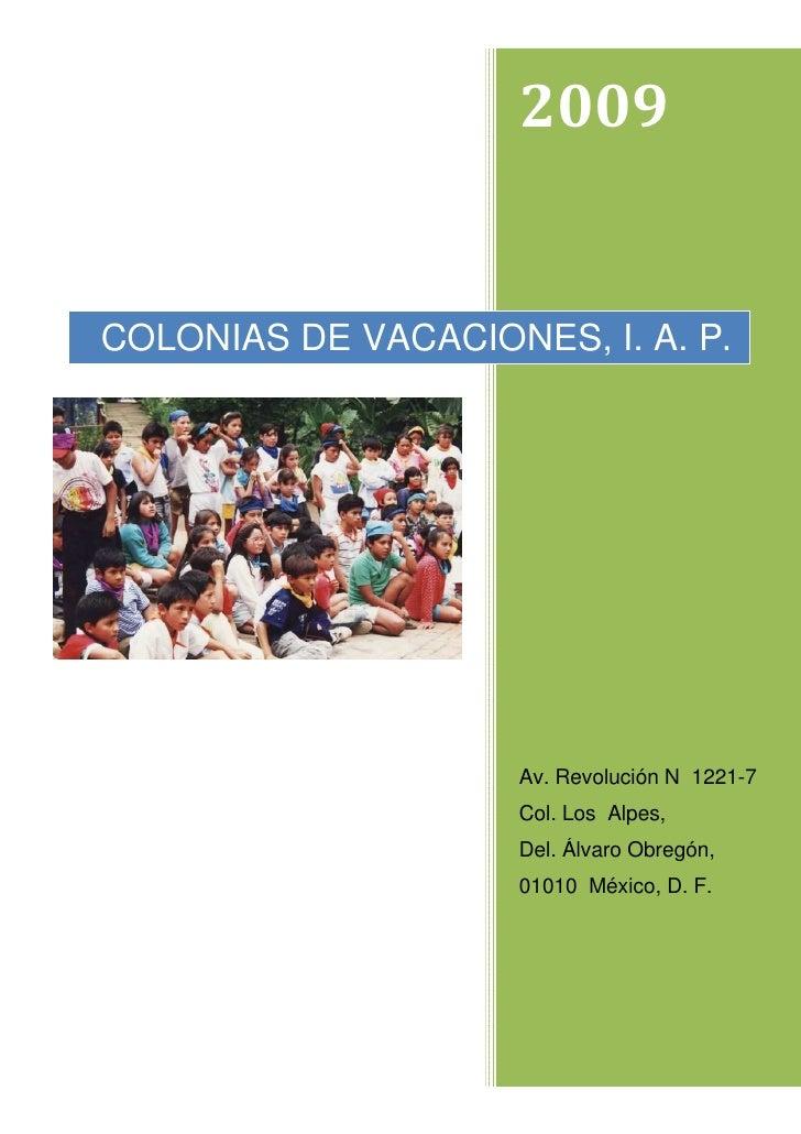 PresentacióN Colonias De Vacaciones En Pdf