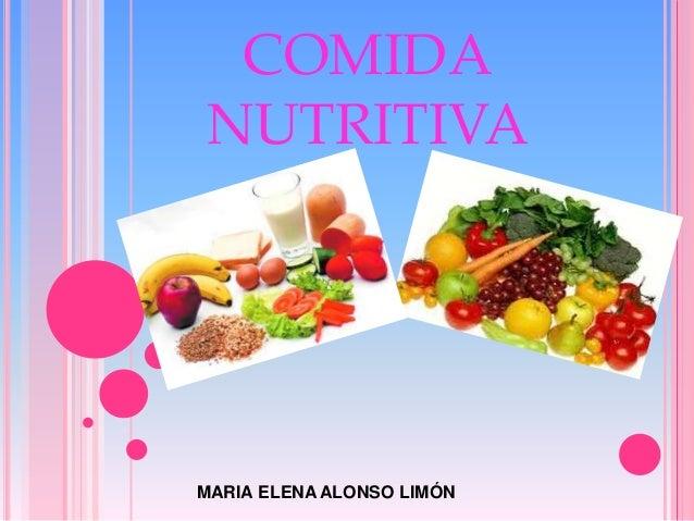 COMIDA NUTRITIVA MARIA ELENA ALONSO LIMÓN