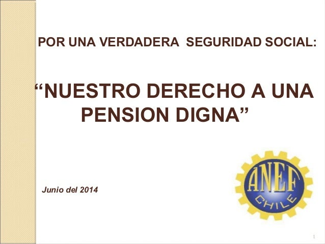 """POR UNA VERDADERA SEGURIDAD SOCIAL: """"NUESTRO DERECHO A UNA PENSION DIGNA"""" Junio del 2014 1"""