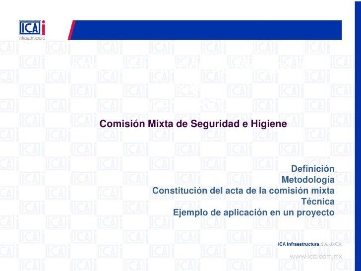 Sistema de Evaluación de Riesgos de               Trabajo            Proyecto RCO        Comisión Mixta de Seguridad e Hig...