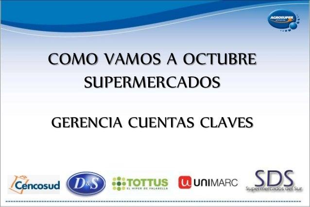 COMO VAMOS A OCTUBRE SUPERMERCADOS GERENCIA CUENTAS CLAVES