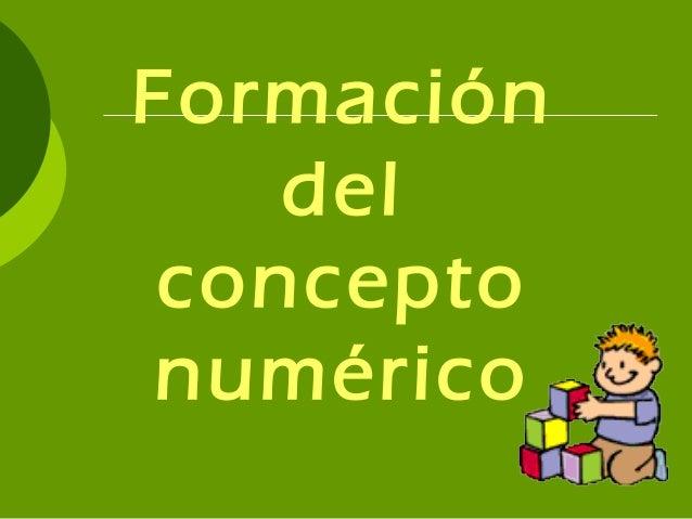 Formación del concepto numérico