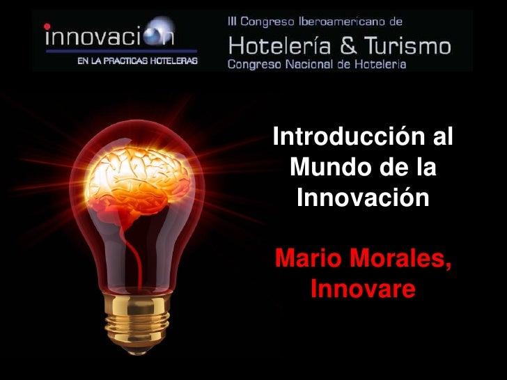 Presentación Congreso Iberoamericano Hoteleria sobre Innovación