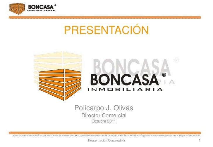 Presentaci N Boncasa Inmobiliaria