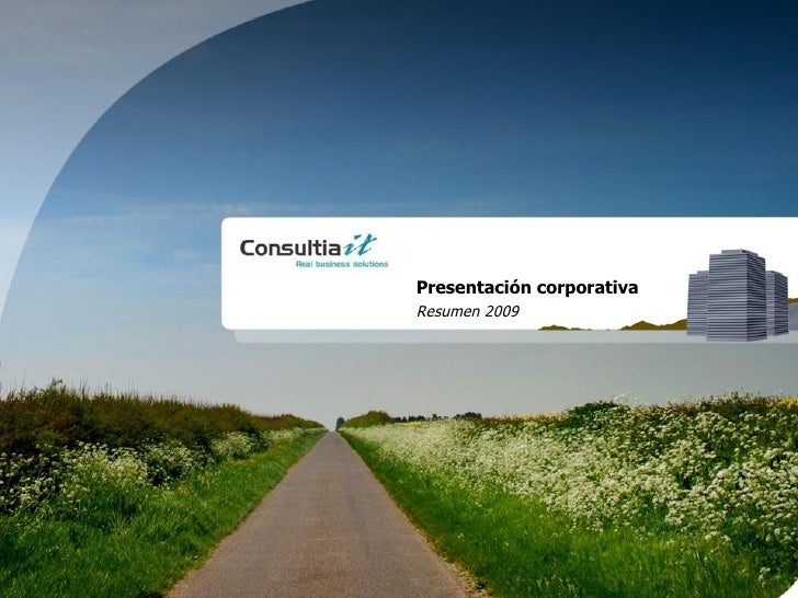 Presentación corporativa  Resumen   2009