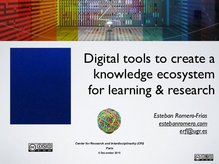 Digital tools to create a knowledge ecosystem for learning and research