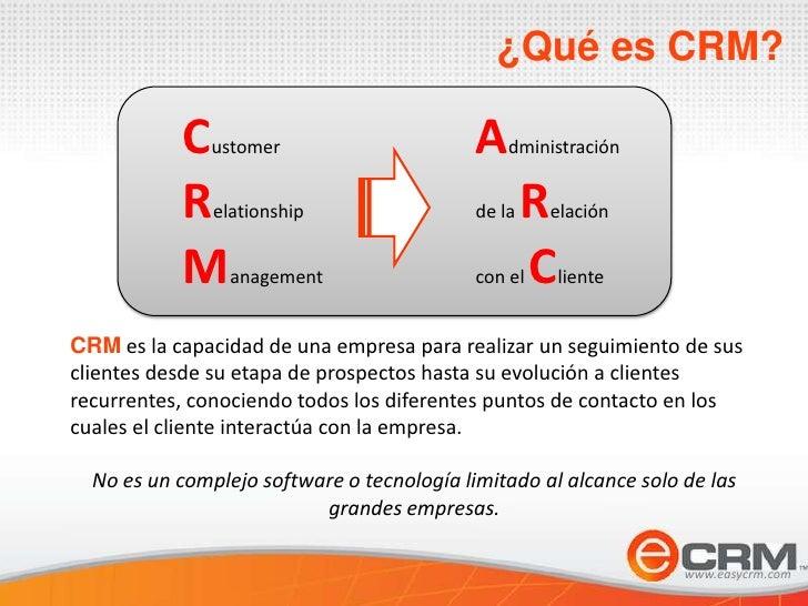 Presentación comercial e-crm