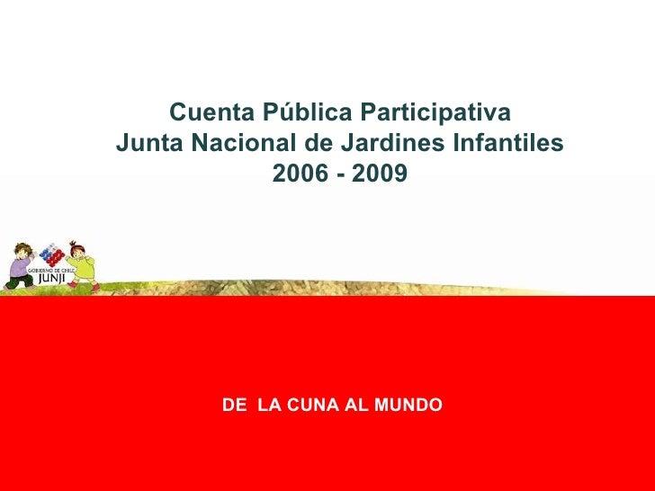 Cuenta Pública Participativa - JUNJI O'Higgins