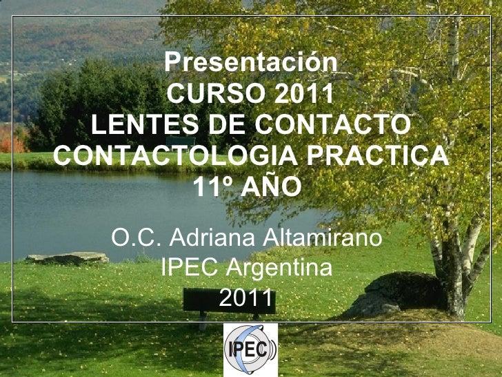 Presentación curso Contactologia IPEC
