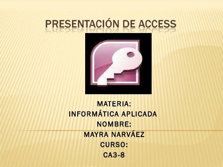 PresentacióN De Access