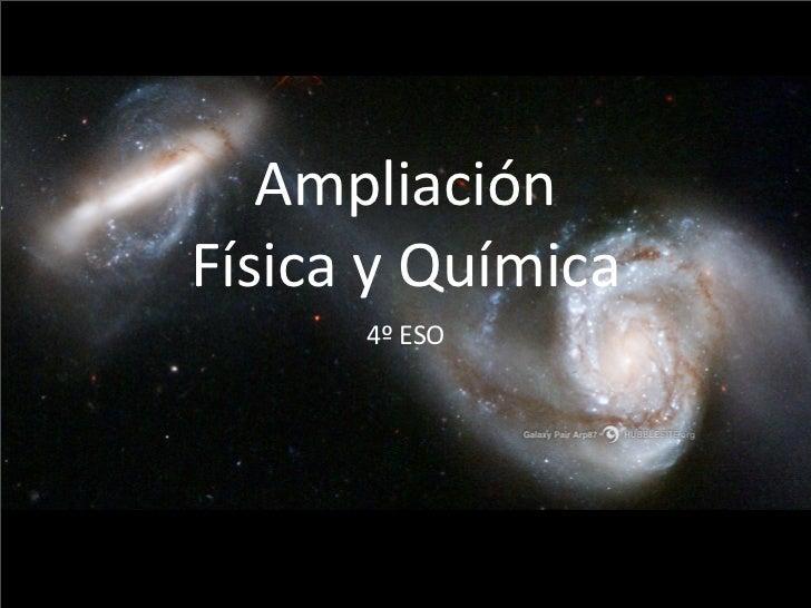 Presentación de Ampliación de Física y Química