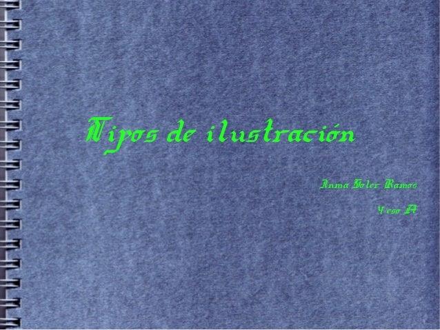 Tipos de ilustración                 Inma Soler Ramos                          4 eso A