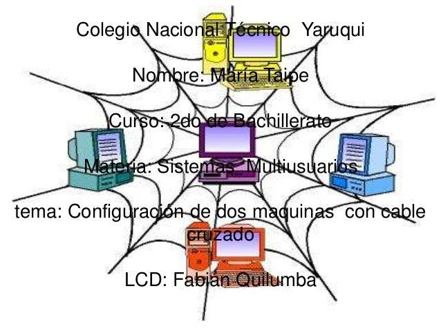 Colegio Nacional Técnico YaruquiNombre: María TaipeCurso: 2do de BachilleratoMateria: Sistemas Multiusuariostema: Configur...