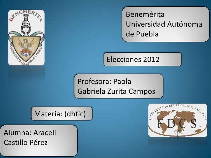 Benemérita                                  Universidad Autónoma                                  de Puebla               ...