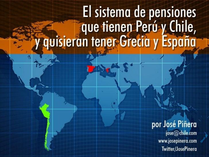 Presentación de josé piñera en foro internacional sobre modernización del sistema privado de pensiones