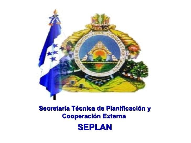 Secretaria Técnica de Planificación y Cooperación Externa  SEPLAN