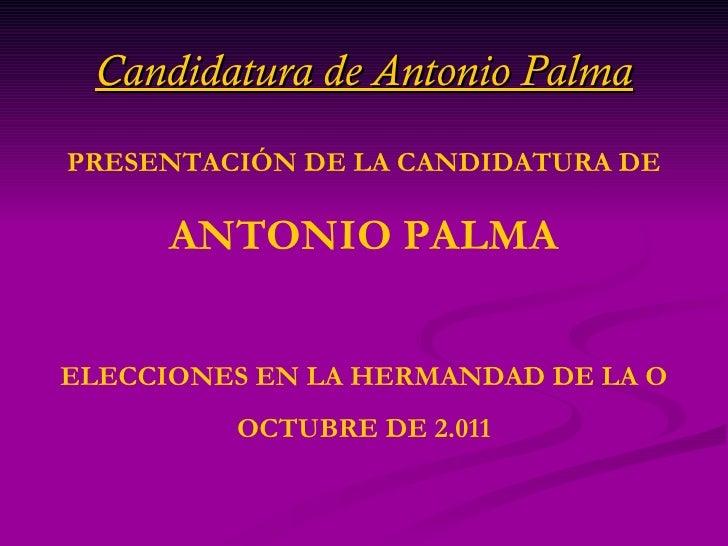 Presentación de la candidatura