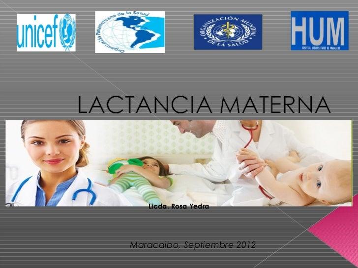 Presentación de lactancia materna mami