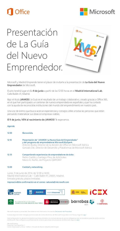 Presentación de La Guía del Nuevo Emprendedor