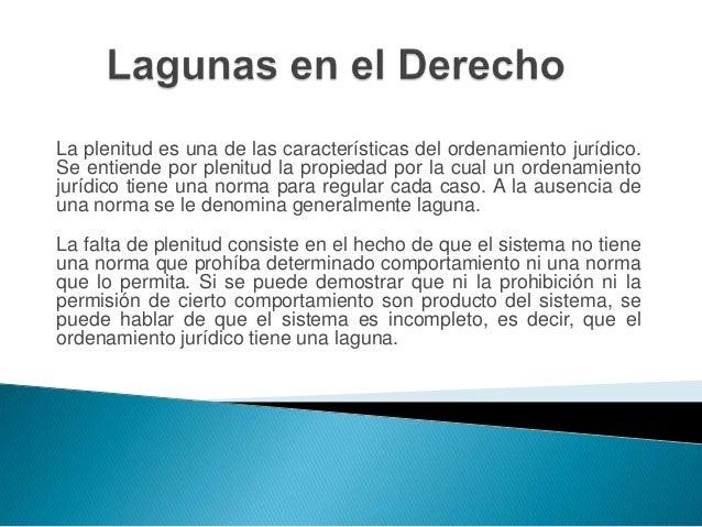 Presentación Lagunas en el Derecho