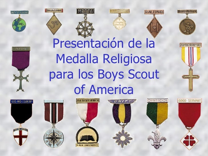 Presentación de la Medalla Religiosa para los Boys Scout of America