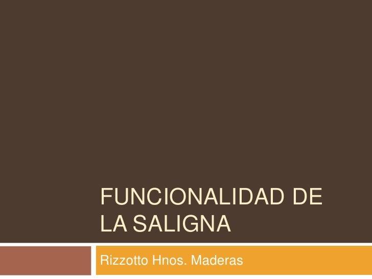 funcionalidad de la saligna<br />Rizzotto Hnos. Maderas<br />