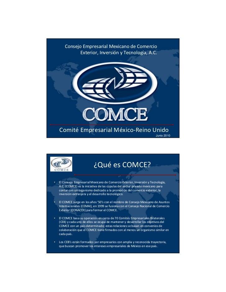 Consejo Empresarial Mexicano deComercio               Exterior,Inversión yTecnología,A.C.    Comité Empresarial México...