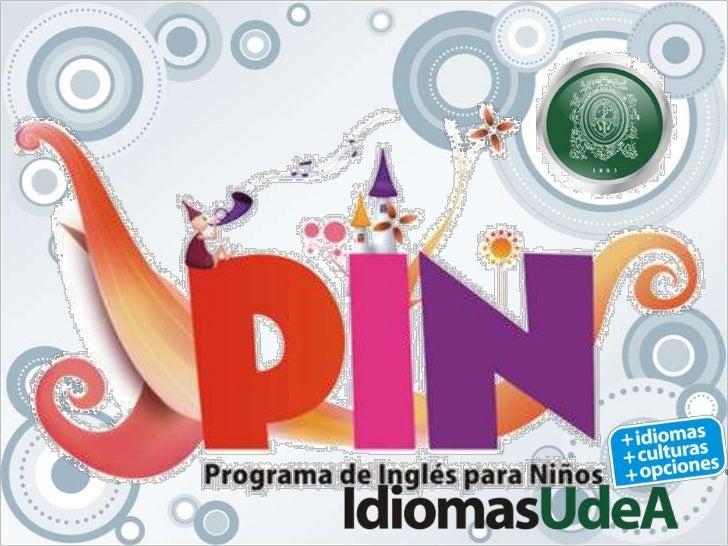 Presentación del programa de inglés para niños