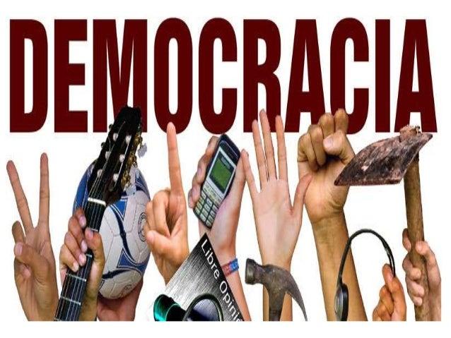 CONCEPTO: La democracia es el poder político del pueblo, ejercido por medio de sus representantes, elegidos mediante un si...