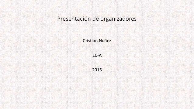 Presentación de organizadores Cristian Nuñez 10-A 2015
