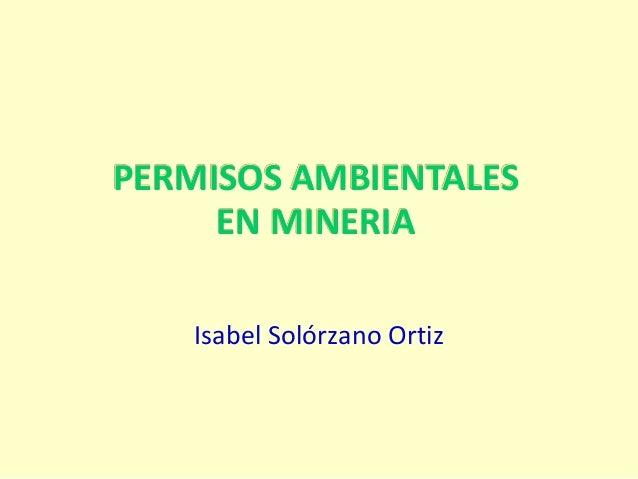 Permisos Ambientales en Minería