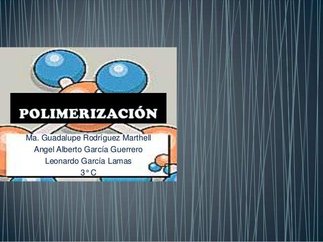 Ma. Guadalupe Rodríguez Marthell Angel Alberto García Guerrero     Leonardo García Lamas              3° C