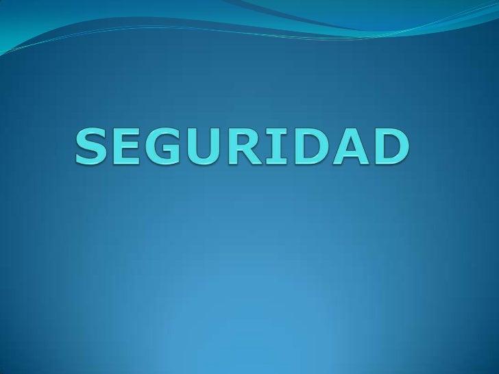 SEGURIDAD<br />