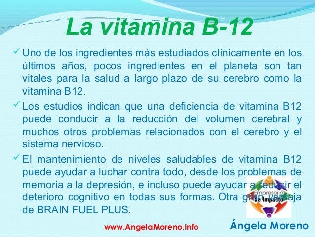 ángela Moreno la Vitamina B-12