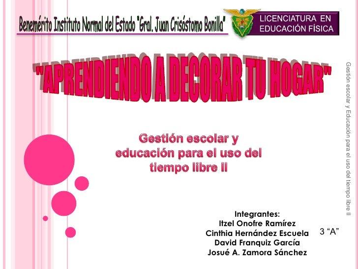 """LICENCIATURA  EN <br />EDUCACIÓN FÍSICA<br />Benemérito Instituto Normal del Estado """"Gral. Juan Crisóstomo Bonilla""""<br />""""..."""