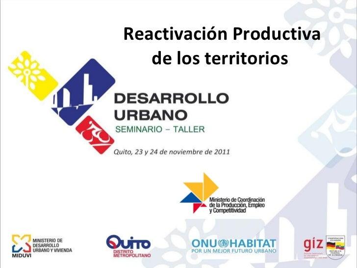 Reactivación Productiva de los territorios