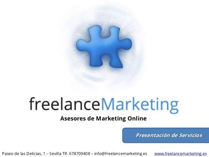 Servicios de consultoría de Marketing Online - freelanceMarketing.es