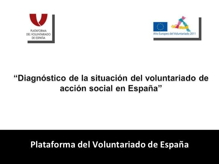 Presentación diagnóstico del voluntariado