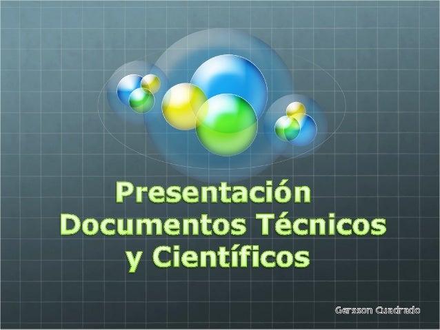 documentos tecnicos y cientificos. Gersson