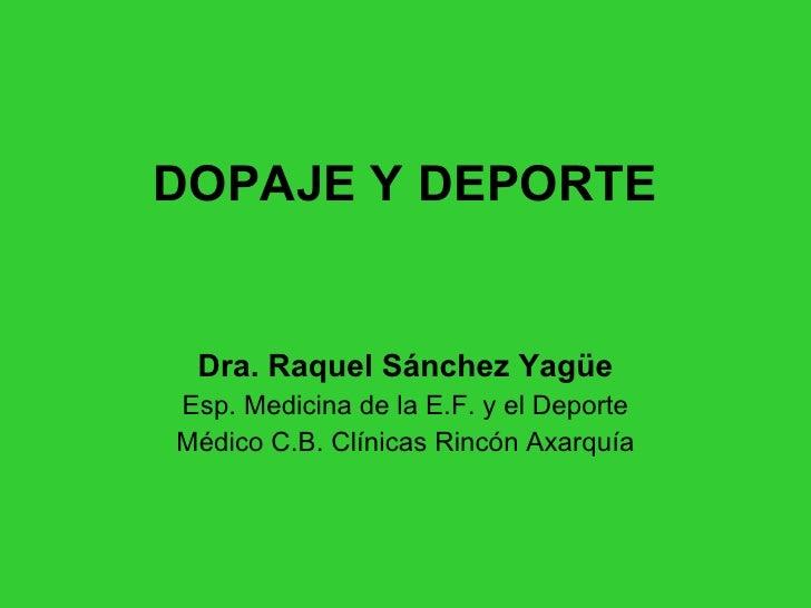 Presentación Dopaje