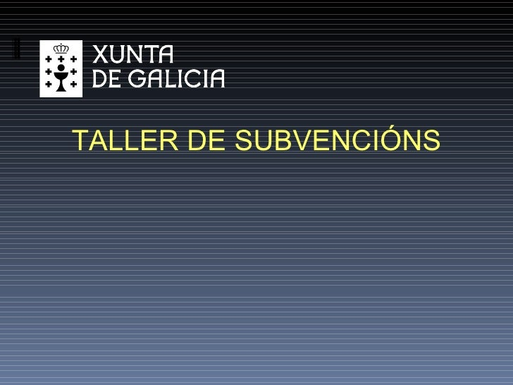 TALLER DE SUBVENCIÓNS