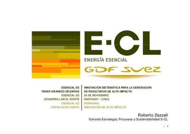 """Seminario """"Innovación de alto impacto, ejemplos de Chile para el mundo"""" - Presentación E-CL"""