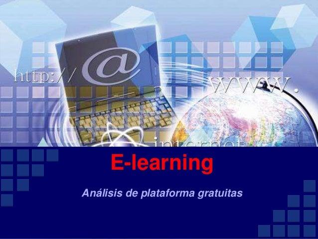 E-learning Análisis de plataforma gratuitas