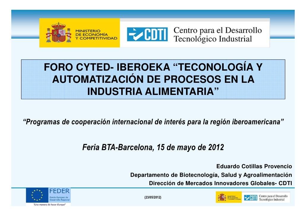 Foro CYTED IBEROEKA-Eduardo Cotillas