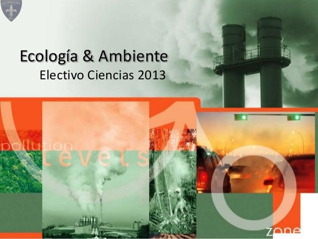 Electivo Ciencias 2013Ecología & Ambiente